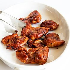 Make this for your dad for Father's Day: Honey BBQ Oven-Baked Chicken Thighs. #recipes | everydayhealth.com