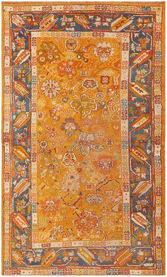 Antique Turkish Oushak Rug 50164