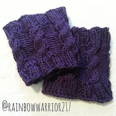 Ravelry: Cable Boot Cuffs | Easy Knit Pattern pattern by Melanie Rosenborough