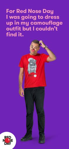Dressing up for Red Nose Day? We've got a free fundraising kit in your size. Order yours on our website.