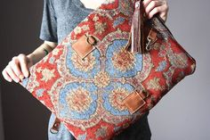 Bags made of tapestry, which wants to wear the (traffic) / Handbags, clutches, bags / SECOND STREET Backpack Bags, Tote Bag, Hippie Bags, Carpet Bag, Linen Bag, Toiletry Bag, My Bags, Travel Size Products, Purses And Handbags
