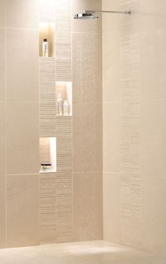 Shower idea from Ardennes limestone tiles