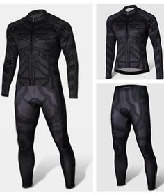 The Dark Knight cycling jersey for the cold nights in Gotham City