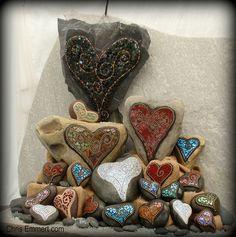 *Hearts on stones~<3