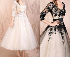 Custom Made Elegant Long Sleeves Dress,Black Lace Dress,Lace Prom Dress,Informal Wedding Dress