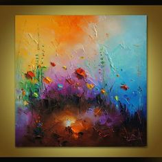 Palette Knife Floral Art Abstract Oil Painting Poppy Painting Flowers Fields Original Art Kitchen Decor Abstract Canvas Art Modern Art Gift for Her MADETOORDER painting i. Abstract Canvas Art, Oil Painting Abstract, Painting Art, Abstract Paper, Three Canvas Painting, Painting Videos, Canvas Paintings, Painting Tips, Painting Frames