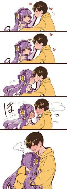 Tbh if they weren't related, i would definitely ship it (still this is gosh damnm cute. Couples Comics, Anime Couples, Cute Couples, Anime Kiss, Anime Art, Magna Anime, Gekkan Shoujo Nozaki Kun, Manga Cute, Daddys Little Girls