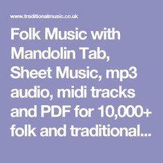 Folk Music With Mandolin Tab Sheet Mp3 Audio Midi Tracks And PDF