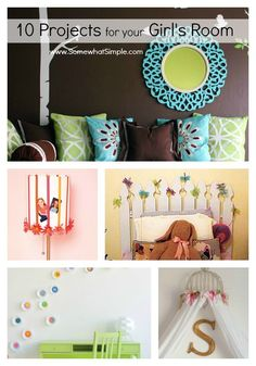 Girls Bedroom Ideas I really like the fast flowers, collage switch plate and the flower lamp