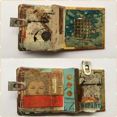The Altered Page - Pages from my 2x2 inch mini book...