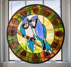 Blue Jays  Chantel Pare pattern Stained Glass Birds, Glass Art, Pattern, Blue, Model, Glass Craft, Patterns, Pattern Print