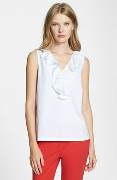 kate spade new york 'beckie' ruffle top available at #Nordstrom