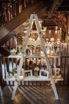 Diy barn wedding ladder display