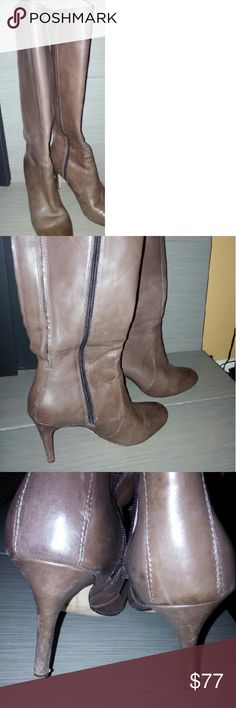"""Land's End All Leather Brown Boots Lands' End Women's Allaire Brown Leather 3 1/2"""" High Hell Tall Boots in Size 8- Regularly $199  - Item #420484  -A stunning boot (with easy full-zip entry)  -Beautifully made using burnished nappa leather, this gorgeous boot is simple yet elegant, has a slew of fine features, and thanks to a full-length zipper, it's easy to slip on and off  -One more thing: for all its quality this boot has a very modest price - similar boots often cost considerably more…"""