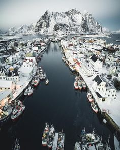 My favourite shot from last winter in Lofoten. Flying drone over Henningsvær which is my favourite place in Lofoten 🇳🇴 Lofoten, Places To Travel, Places To See, Travel Destinations, Travel Tips, Holiday Destinations, Travel Ideas, Camping Car France, Wonderful Places