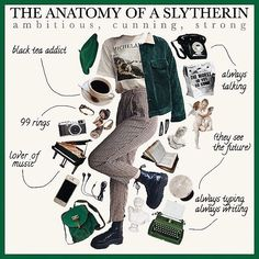 :+* on this is my post! Im on a roll Mode Harry Potter, Estilo Harry Potter, Harry Potter Outfits, Slytherin Aesthetic, Harry Potter Aesthetic, Slytherin Pride, Slytherin House, Ravenclaw, Aesthetic Fashion