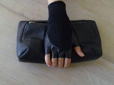 Leather bag,female clutch bag,black clutch , bag ,KeySeven