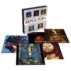 """The complete Max Cavalera collection 1987-1996"" dei #Sepultura. Contiene: ""Schizophrenia"" (1987), ""Beneath the Remains"" (1989), ""Arise"" (1991), ""Chaos A.D. (1993) e ""Roots"" (1996)."