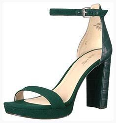 Nine West Women's Dempsey Wool Sandal, Green, 6.5 Medium US (*Partner Link)