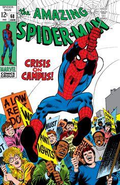 The Amazing Spider-Man #68 - January 1969 cover by John Romita Sr