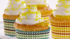 Giada+De+Laurentiis+-+Lemon+Angel+Food+Cupcakes+with+Lemon+Curd+and+Mascarpone+Frosting