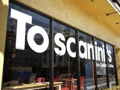 Toscanini Ice Cream, Cambridge - Ranked as the #2 best ice cream shop in America. Can't wait!