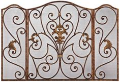 Antique Brass Iron Folding Fireplace Screen Universal Lighting and Decor http://www.amazon.com/dp/B009KLFKIC/ref=cm_sw_r_pi_dp_jieyub0PWTJ46