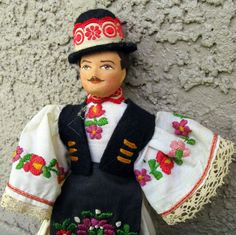 Vintage Hungarian Doll in Traditional Clothing by outofthepinksky