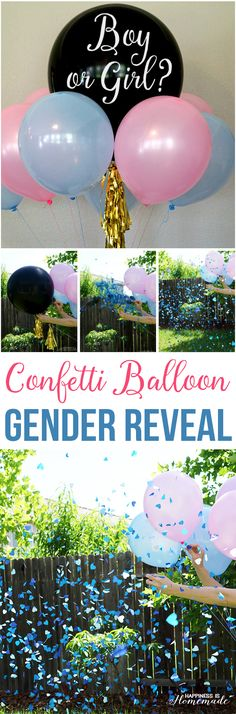 Baby Gender Reveal Party Ideas + Free Printable Invitation - #balloontime #genderreveal #ad - Happiness is Homemade