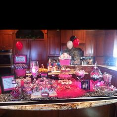 """Sweet 16"" Candy Buffet I created for a special friend!"
