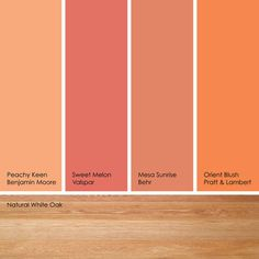 orange can quickly turn pastel if you opt for a lighter shade. to
