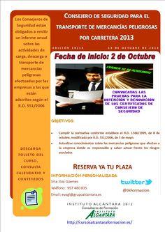 CONSEJERO DE SEGURIDAD PARA EL TRANSPORTE DE MERCANCIAS PELIGROSAS POR CARRETERA 2013
