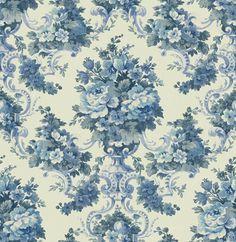 Interior Place - Blue KD72112 Vintage Floral Wallpaper, $29.05 (http://www.interiorplace.com/blue-kd72112-vintage-floral-wallpaper/)