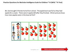Practice test questions for the Wechsler Intelligence Scale for ...