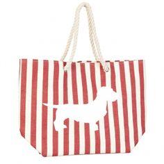 Dackelparadies - Strandtasche/Shopper 4 rot