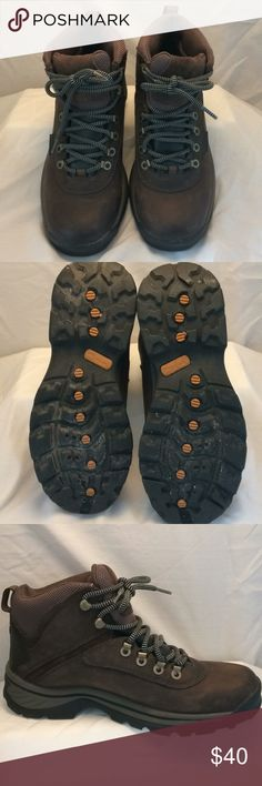 Women's Timberland Hiking Boot Waterproof, upper leather, rubber sole. Wore 1 time. Perfect condition. Women's hiking boot. Timberland Shoes Lace Up Boots