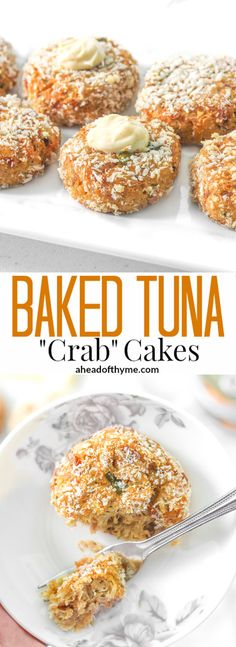 """Baked Tuna """"Crab"""" Cakes: Craving crab cakes? Make baked tuna """"crab"""" cakes instead for a quick, easy, and cheaper meal option that tastes just as good! 