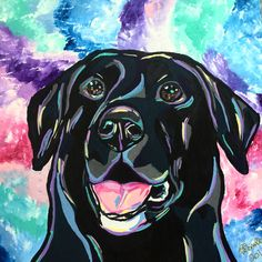 Sierra the black lab, I love how this piece turned out
