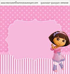 Dora Dancing Ballet: Free Party Printables