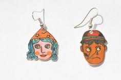 #orecchini in #polyshrink #Pinocchio #Fatina di #LabLiu su #Etsy #favole #illustrazioni #illustration #jewelry #earrings #woman #girl #donna #moda #estate