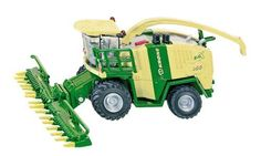 SIKU 1:87 Krone Big X1000 Harvester by Alpha Toys Ltd. $34.99. 1/87th scale. Collector Quality. The Krone BigX 1000 is one of the world's top performance harvesters. With 1,000 HP performance, this model surpasses the usual dimensions and is also an impressive vehicle in the mini SIKU model range. The 14-row harvester can be raised and lowered and is removable. The tyres are made of rubber material with agricultural track. The adjustable outlet pipe and detailed re...