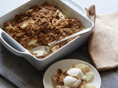 This healthier crumble uses whole-wheat flour in the spiced topping and canola oil instead of butter.