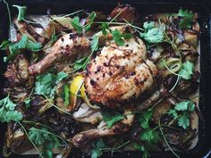 Sumptuous Thai roast Chicken! Jules Blog, Green Curry, Roast Chicken, Asian Recipes, Dinner Ideas, Good Food, Child, Crown, Cooking