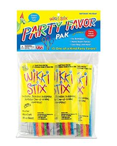 Kids' Bendable Sculpting Sticks - Wikki Stix Party Favor Pack * Want additional info? Click on the image.