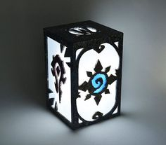 Make an amazing lantern using #stencil #template #pattern