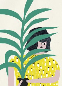 Cinta Arribas' illustrations have such a playful style wonderful sense of humor! Perfect imagery to brighten up your mood. Garden Illustration, Paper Illustration, Botanical Wall Art, Installation Art, Graphic Prints, Illustrators, Drawings, Artwork, Instagram Posts