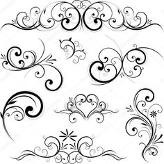 Fotosearch – Search Clip Art, Illustration Murals, Drawings and Vector EPS Graphics Images Clipart – Vector scroll ornament. Fotosearch – Search Clip Art, Illustration Murals, Drawings and Vector EPS Graphics Images Stencils, Muster Tattoos, Scroll Design, Swirl Design, Shape Design, Art Design, Vector Design, Design Elements, Zentangle