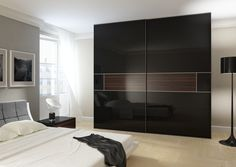 black sliding closet doors