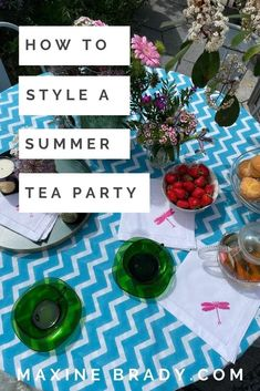 How to style the perfect summer tea party to enjoy with family & friends by interior stylist Maxine Brady Ahmad Tea, Outdoor Garden Rooms, Perfect Cup Of Tea, Best Tea, Interior Stylist, Tv Presenters, Summer Garden, Drinking Tea, Tea Party