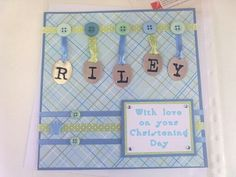 Christening card for a boy.